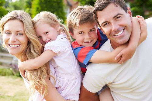 portrait of happy family in garden-img-blog